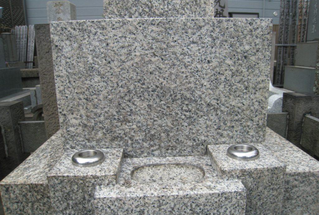 水あか除去後のお墓
