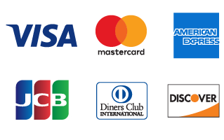 VISA/Mastercard/AMERICANEXPRESS/JCB/DinersClub/DISCOVER